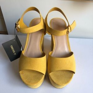 Forever 21 Yellow Platform Shoes